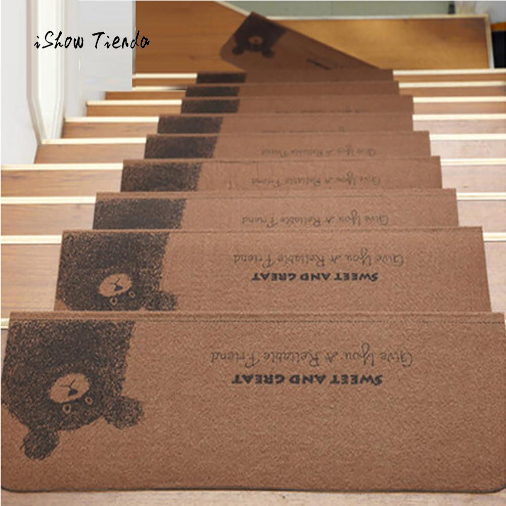 1Pcs Cute Beat Stairs Stairs Mat Step Basic Non Slip Rubber Backing  Skid Resistant