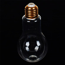 Creative Plastic Light Bulb Shaped Bottle Drink Cup Water Party Decor Travel Outdoor Drinkware Portable Kettle 5 Sizes