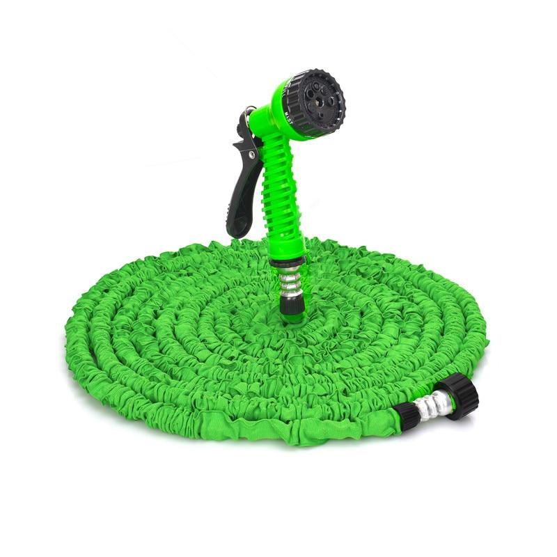 Nueva manguera de agua Flexible mágica expandible de 25 ft- pies para manguera de agua para coche manguera de plástico de manguera europea con PISTOLA DE PULVERIZACIÓN para riego