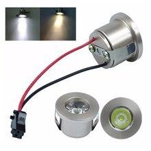 1 Вт/3 Вт светодиодный белый/теплый белый AC 85-265 в мини поверхностного монтажа светильник светодиодный светильник вниз ювелирный шкаф лампа светодиодный мини-прожектор лампа