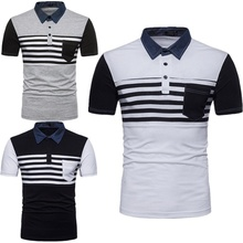 ZOGAA 2019 New Summer Men Casual Polo Shirts Patchwork Black Brand Clothing For Mans Short Sleeve Slim Fit Clothes Male Tops