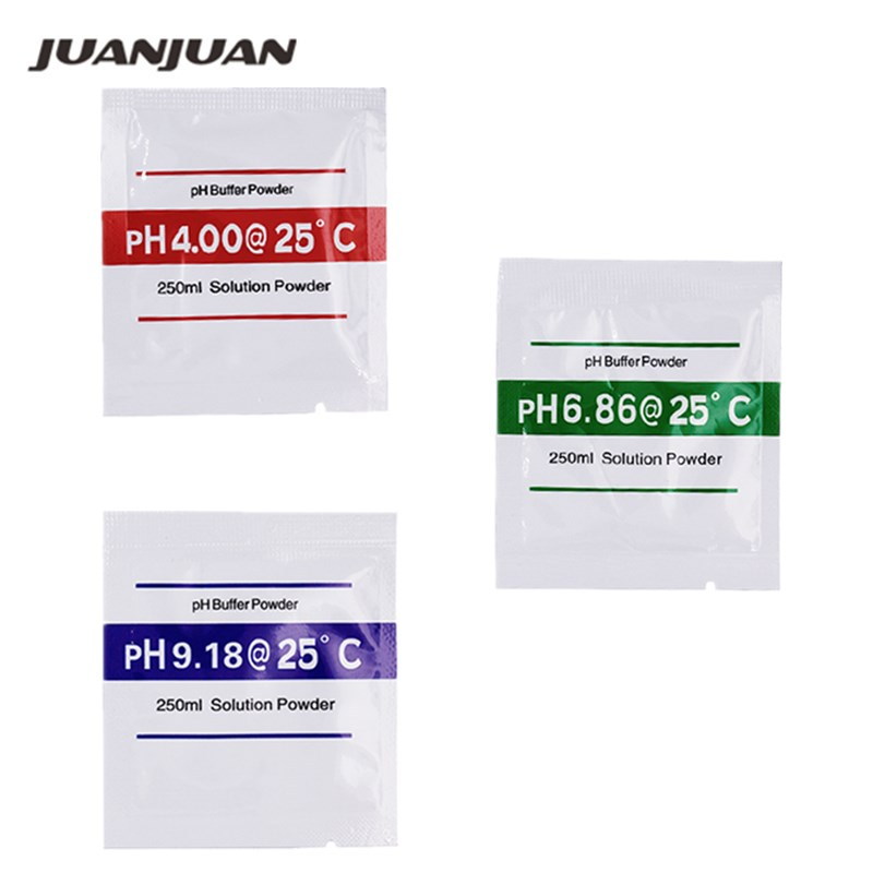 3pcs PH Buffer Powder For PH Test Meter Test Measure Calibration Solution 4.00/4.01 6.86 9.18  Point 49% Off