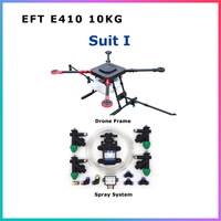 EFT 4 Axis 10KG/10L spraying gimbal system Folding Quadcopter Spray pump Agriculture drone