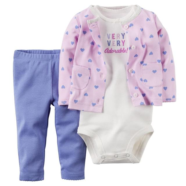 3pcs/set Newborn Baby Girls Fashion Clothing Infant Baby Sets Boys Winter Autumn Casual Wear Kid Children Bodysuit + Pants Suits