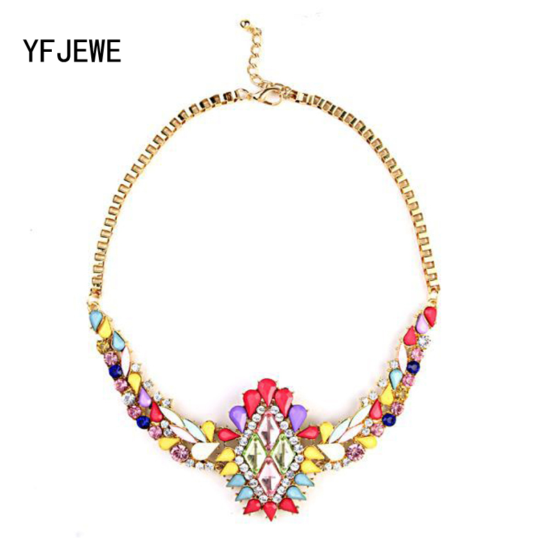 YFJEWE New Manufacturers selling in Europe and the popular boutique color collocation nobility women necklace jewelry #N131