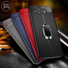 From jenny Soft Silicone Leather Back cover for Samsung Galaxy S8 S9 Plus With Magnetic Car Holder Case for Samsung Note 8 Note9(China)