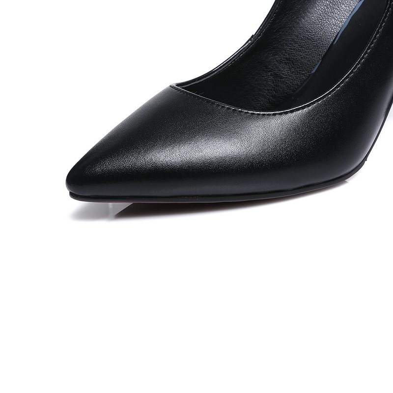 Genuine leather high heels ladies mary janes shoes woman black women pumps mather casual shoes woman large size 42-in Women's Pumps from Shoes    2