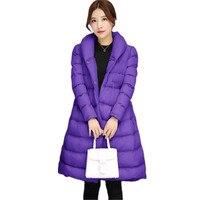 2017 אופנה חדשה חמים נשים מעיל חורף להאריך ימים יותר מעיל מעיל כותנה מרופד מעיילי באיכות גבוהה בגדי נשים manteau femme 520