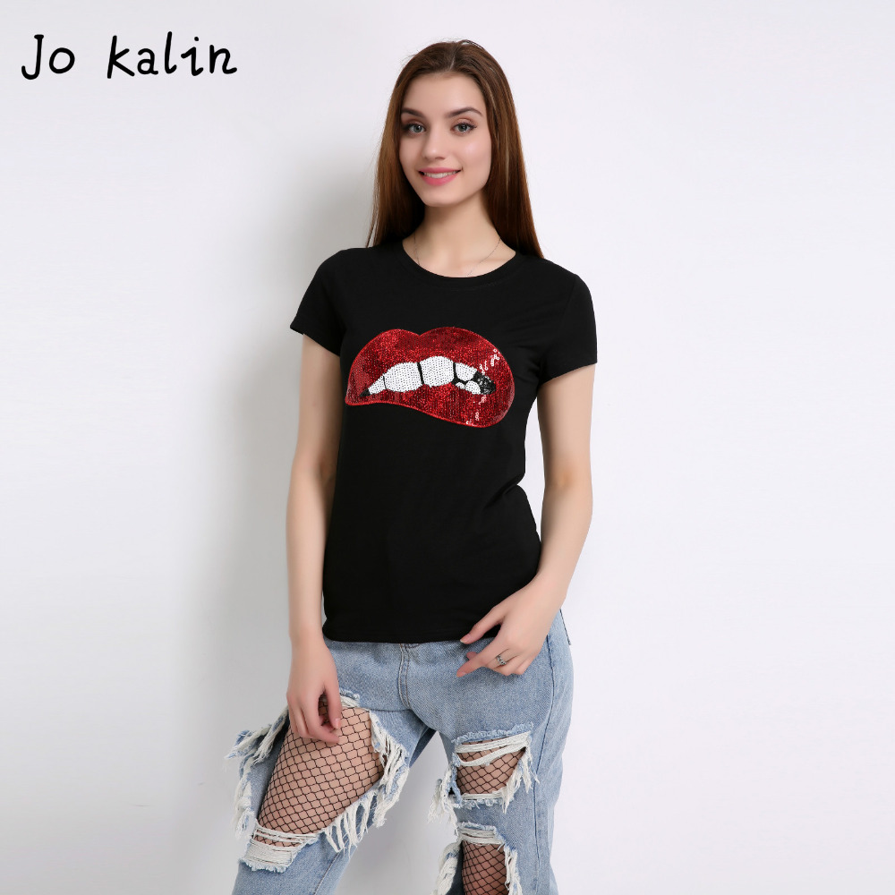 Buy black sequin lips casual and get free shipping on AliExpress.com 23b312eb579e