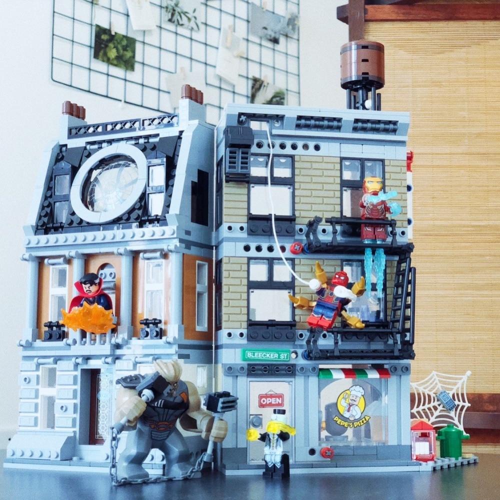 Super Heroes Sanctum Sanctorum Showdow Avengers Oändlighetskrig Byggnadsblock Kit Movie Classic Barnleksaker Marvel Kompatibel Legoe