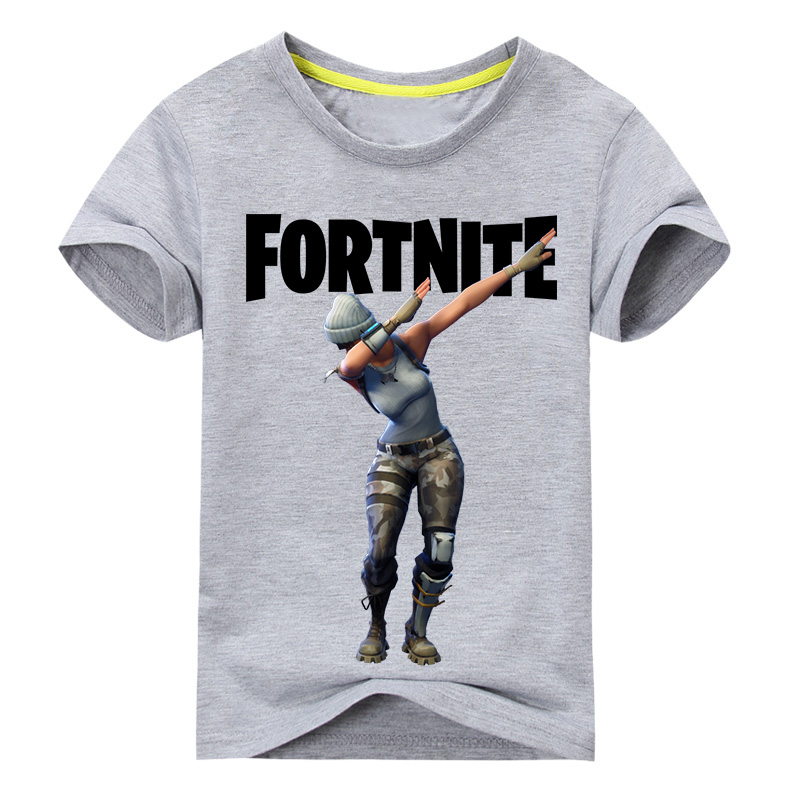 898cf1aa6 Hot Game Fortnite T-shirt Boy Girls Summer Short Tee Tops Costume For Kids  Clothing Baby 100%Cotton T-Shirt