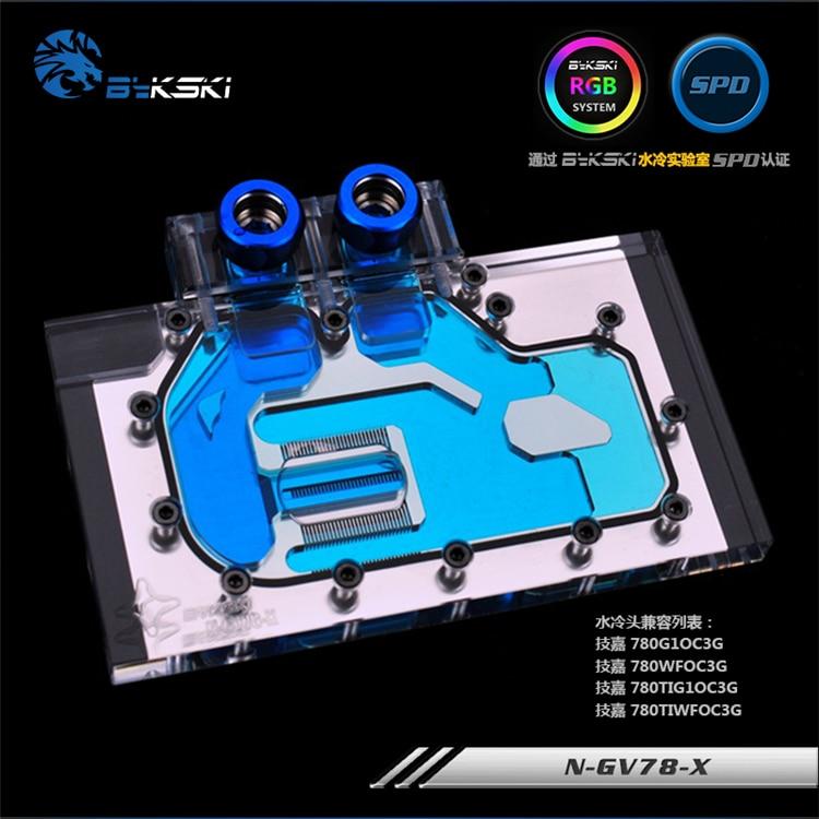 Bykski N-GV78-X GPU Water Cooling Block for GIGA GTX780 охлаждение для компьютера bykski n gv7 x gpu gtx770oc gtx760oc gigabyte gv n780oc n ga7 x