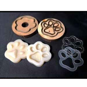 Image 5 - Ofício de couro cão gato pata chaveiro diy pingente forma modelagem molde plástico com corte molde plástico conjunto 75mm