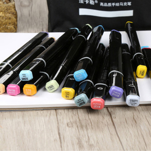 Image 3 - 480 Color Finecolour Dual Head Art Markers Pen Oily Alcoholic Sketch Marker Soft Brush Pen Art Supplies Markers Pen for Drawing