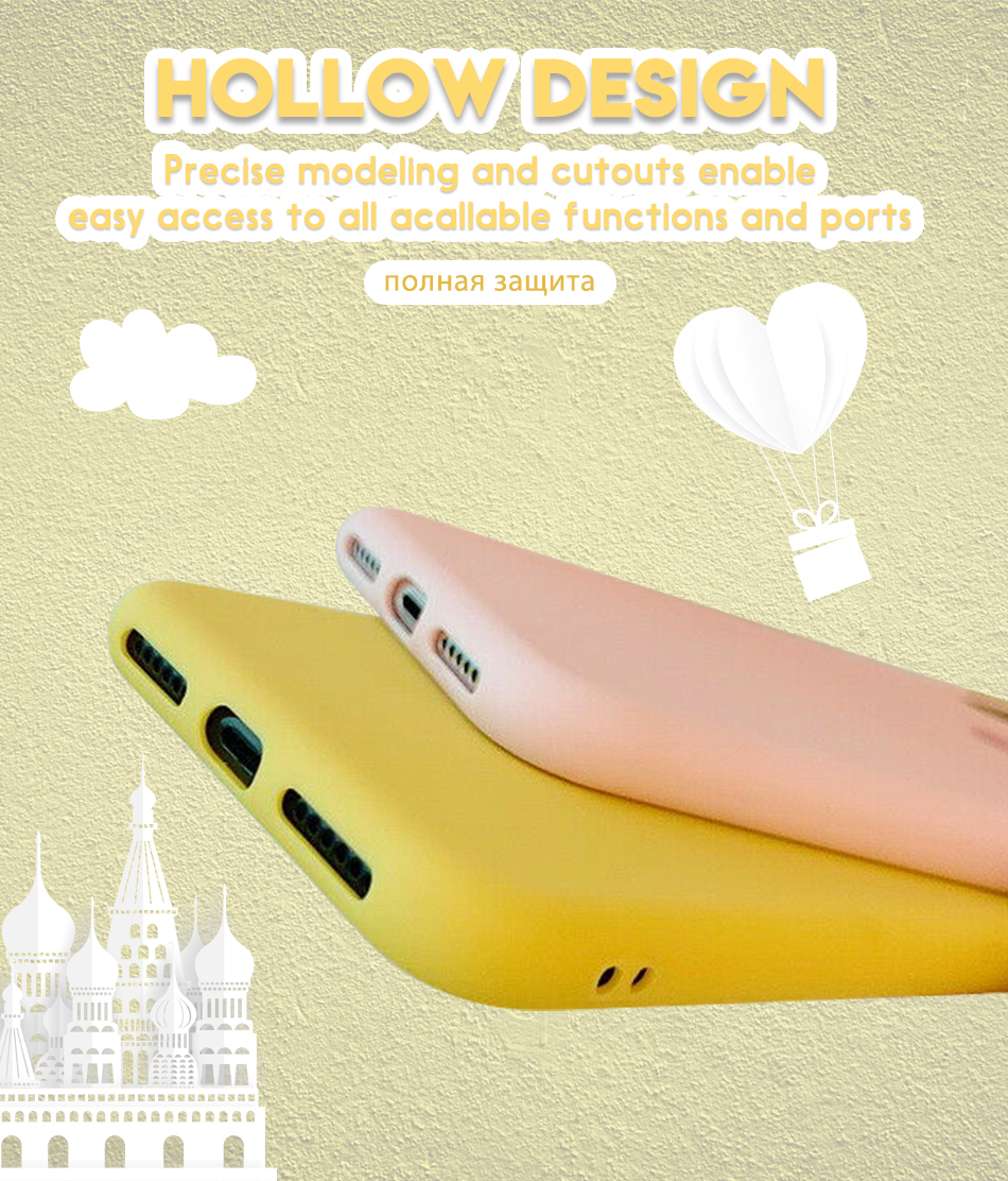 Shockproof TPU Silicone Soft Case For iphone 7 8 6 6s plus Cute Love Heart Soft TPU Silicone Case Cover For iPhone X XS Max XR