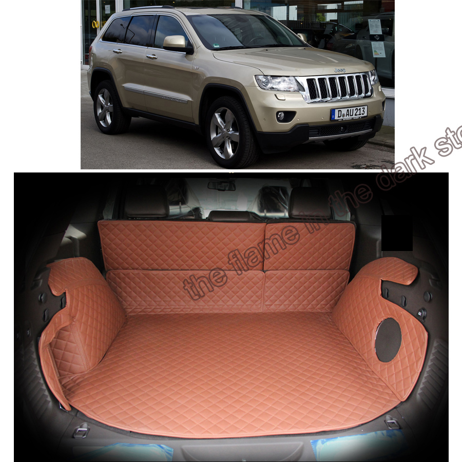 Lsrtw2017 Fiber Leather Car Trunk Mat For Jeep Grand