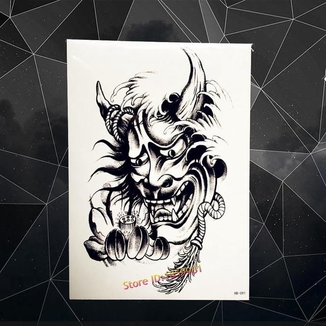 3d Monster Geist Temporare Tatowierung Lotusblume Designs Gefalschte