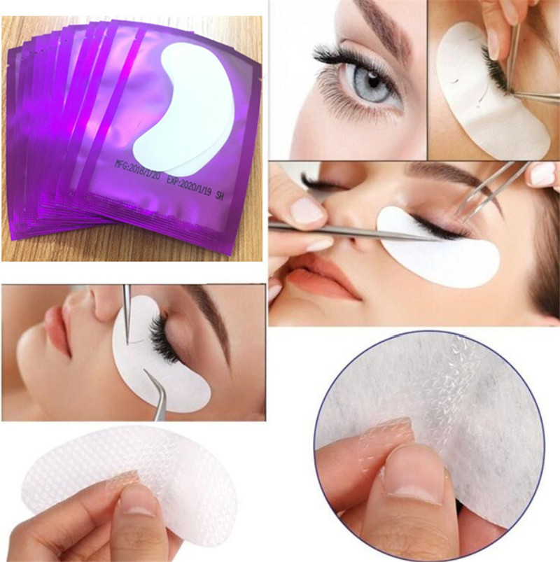 HTB13Un1AH5YBuNjSspoq6zeNFXa0 100pairs/pack New Paper Patches Eyelash Under Eye Pads Lash Eyelash Extension Hydrating Eye Tips Sticker Wraps Make Up Tools