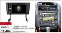 Рамка + android 6,0 Автомобильный dvd для lexus gs toyota aristo s160 1997 2004 магнитофон 4G lite стерео Головные устройства навигационный GPS радиоприемник