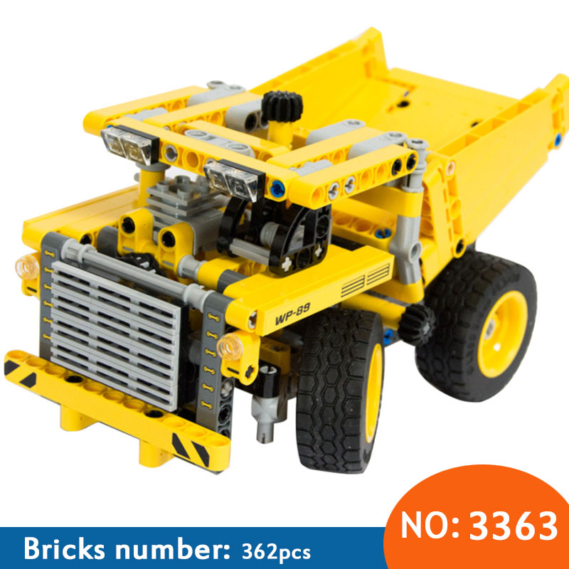 DECOOL 2017 New  3363 Mining Truck Building Block Bricks Toy Boy Game Model Car Gift  Compatible with 42035 DIY Free Shipping police station park diy track car parking building block toy boy gift learning
