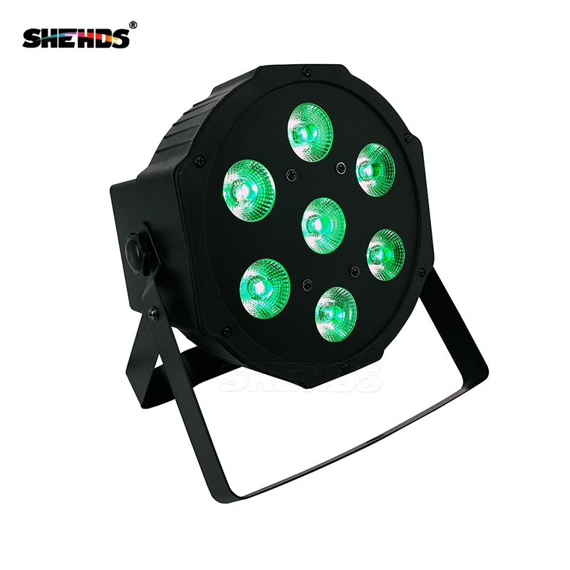 Fast Shipping DJ Stage Lightings Disco LED Light Wash RGB Uplighting LED SlimPar Tri 7x9W LEDs ,SHEHDS Stage Lighting стоимость