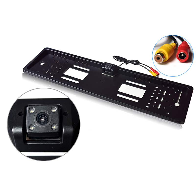 170 Degrees 480 TV Line Car Rear View Camera CCD LED Night Vision Parking Reverse Backup Camera With European License Plate Fram