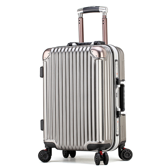 7c6c35c75c 2018 autumn and winter new fashion aluminum frame trolley case PC universal  wheel business suitcase