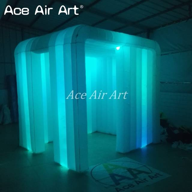 US $520 0 |New style 2 4m reusable indoor and outdoor rental inflatable  photo booth for wedding decoration with door in left-in Party Backdrops  from