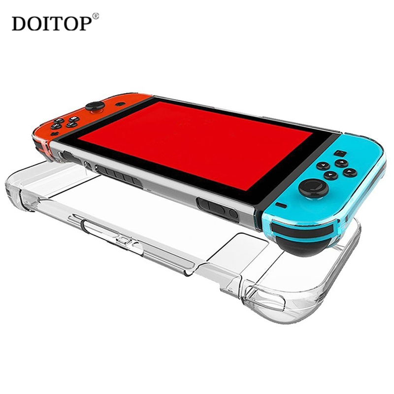DOITOP Hard PC Protection Cover Case For Nintend Switch NS Anti-scratch Dustproof Transparent Crystal Shell For Nintend Switch A nintend switch dockable anti scratch crystal hard back detachable protective case cover slim for nintendos switch ns docking