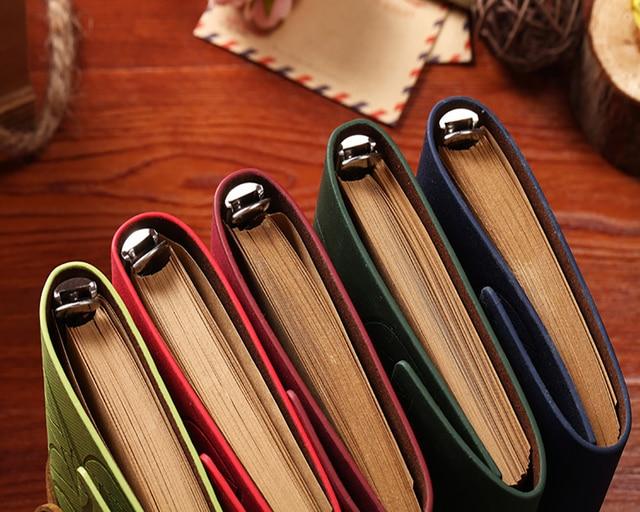 Ретро кожа Тетрадь лист кулон журнал дневник и пополнить Бумага