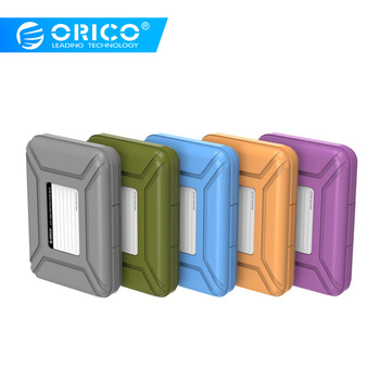 ユニークなオリコ 5 色 3.5 ''HDD プロテクターボックス eva スポンジマットサポート防塵 + 防湿携帯ディスクドライブケース