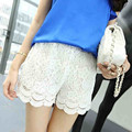 Plus Size M L XL XXL 2017 New Summer Fashion Womens Shorts Sweet Style Lace Crochet Elastic Waist Slim Safety Lace Short  C2976