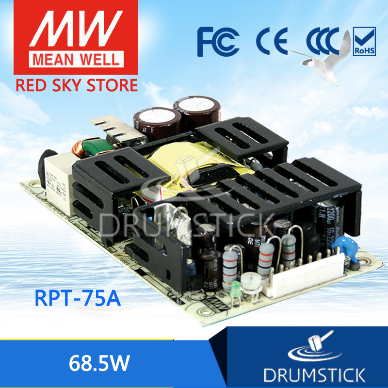 Selling Hot MEAN WELL RPT-75A meanwell RPT-75 68.5W Triple Output Medical Type new worthwhile free shipping mean well mpt 200c 2pcs meanwell mpt 200 200w triple output medical type