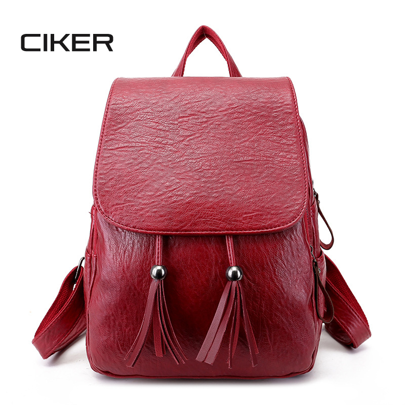 CIKER Fashion Backpacks for Teenage Girls Womens PU Leather Backpack School Bag Casual Vintage Large Capacity Travel BackpackCIKER Fashion Backpacks for Teenage Girls Womens PU Leather Backpack School Bag Casual Vintage Large Capacity Travel Backpack