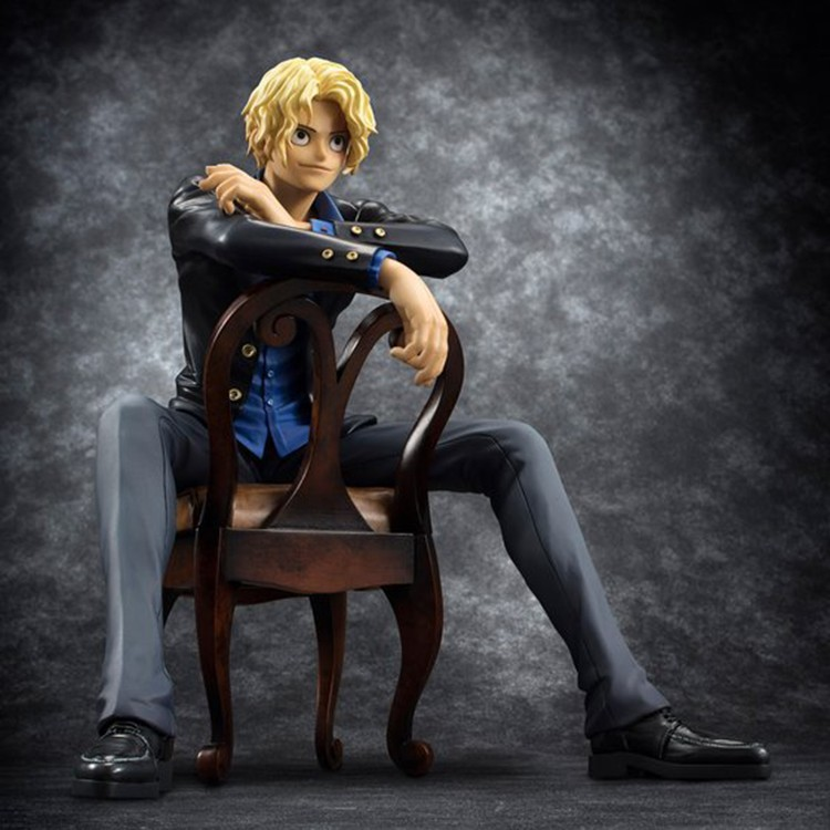 ФОТО One Piece Sabo 1/8 scale painted Sitting Ver. Revolutionary Army Sabo Doll PVC Action Figure Collectible Model Toy 16cm KT2991