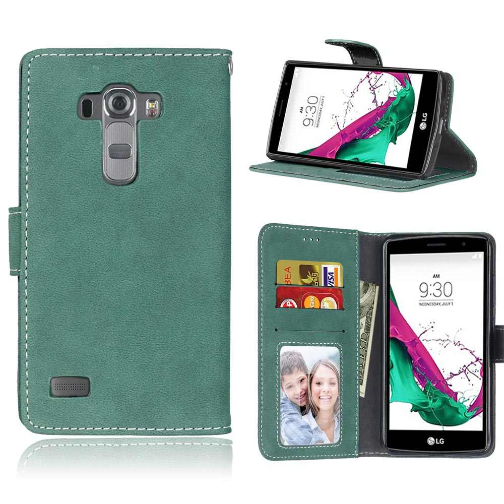 Retro Filp Leather Wallet Stand Phone Case for LG G4 Beat G4S H736 H735 Covers with Card Holder Stand Cover for LG G4 Beat Bags