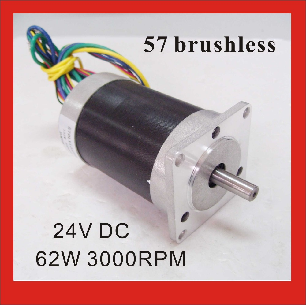 Free Shipping! Brushless DC Motor 24V 62W 3000rpm 57 BLDC motor Square Flange Large Stock Reserve large stock reserved bldc motor 24v 3000rpm 3 pase brushless dc motor 69w 28oz in 57mm diameter
