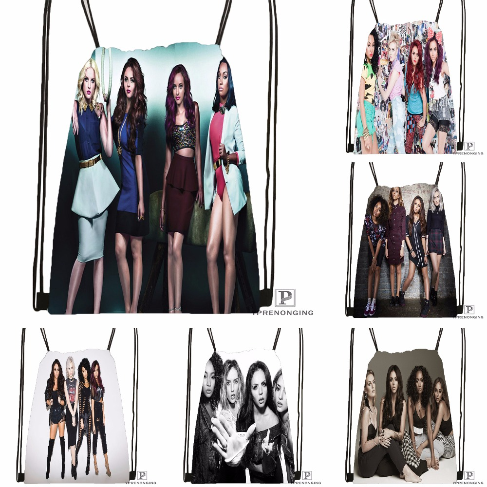 Custom Little Mix Australian Drawstring Backpack Bag Cute Daypack Kids Satchel (Black Back) 31x40cm#180531-04-22