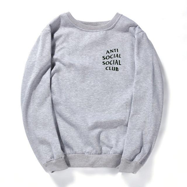 AntiSocial Social Club Hoodie Anti Social Social Club Hooded Kanye Sweatshirts Unisex Hoodies For Men Women Black white gray