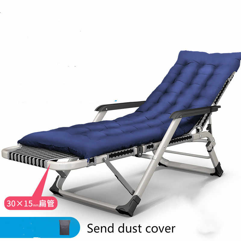 65d8e49d6ee4 Folding chair lunch break office multifunctional bed back lazy beach chair  home happy siesta chair