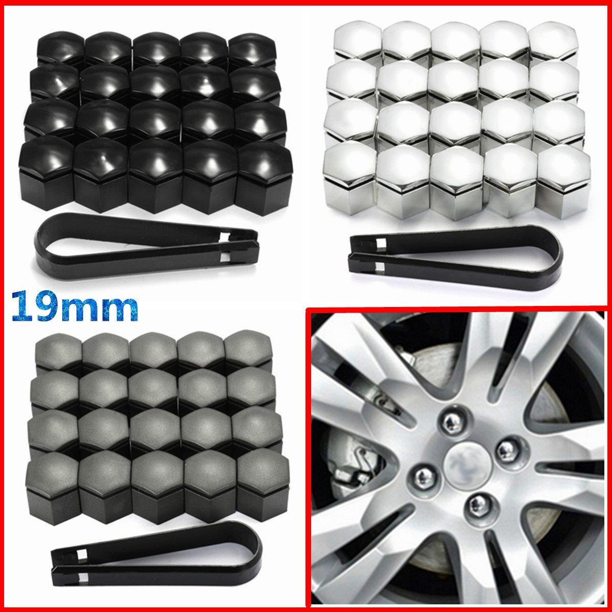 20 unids piezas 19mm rueda tuerca cubierta perno tapa Protector para Opel Romove herramienta llave