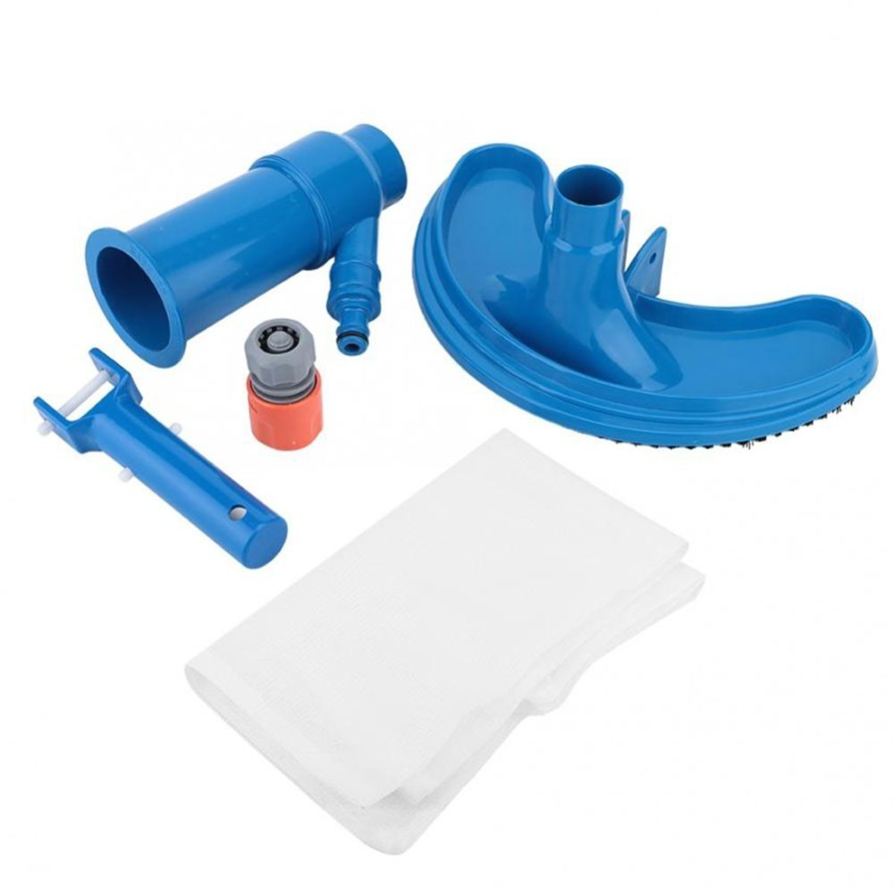 1 Set Jet Swimming Pool Suction Vacuum Cleaner Floating Objects Cleaning Tools Suction Head Pond Fountain Vacuum Brush Cleaner