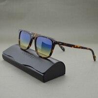 Retro Men S Sunglasses Driving Outdoor Men And Women OV5031 NDG Brown Frame With Green Lenses