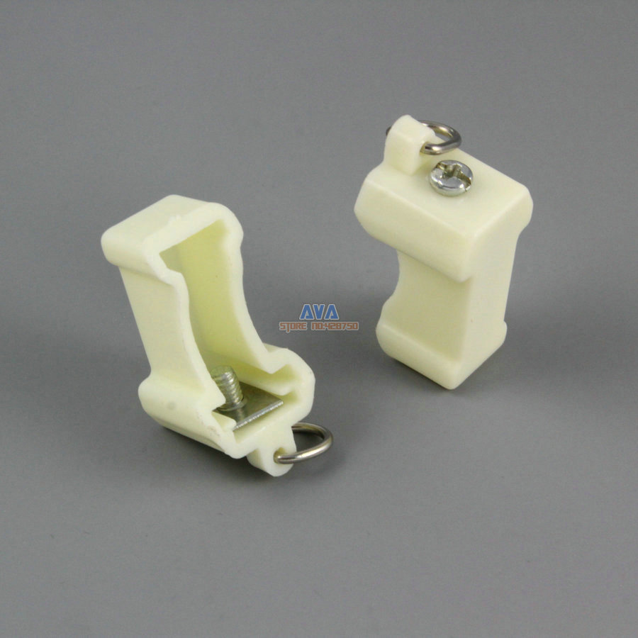 20 Pieces Curtain Track End Caps Curtain Track End Stops 14x11x24mm