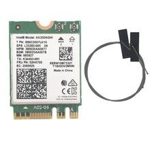 Intel AX200 AX200NGW 용 무선 데스크탑 카드 1730Mbps NGFF M.2 Bluetooth 5.0 듀얼 밴드 Wifi 네트워크 카드 802.11AC/AX