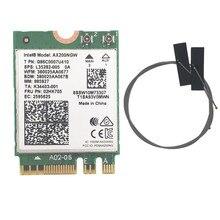 Kablosuz masaüstü kartı Intel AX200 AX200NGW 1730Mbps NGFF M.2 Bluetooth 5.0 Dual Band Wifi ağ kartı 802.11AC/AX