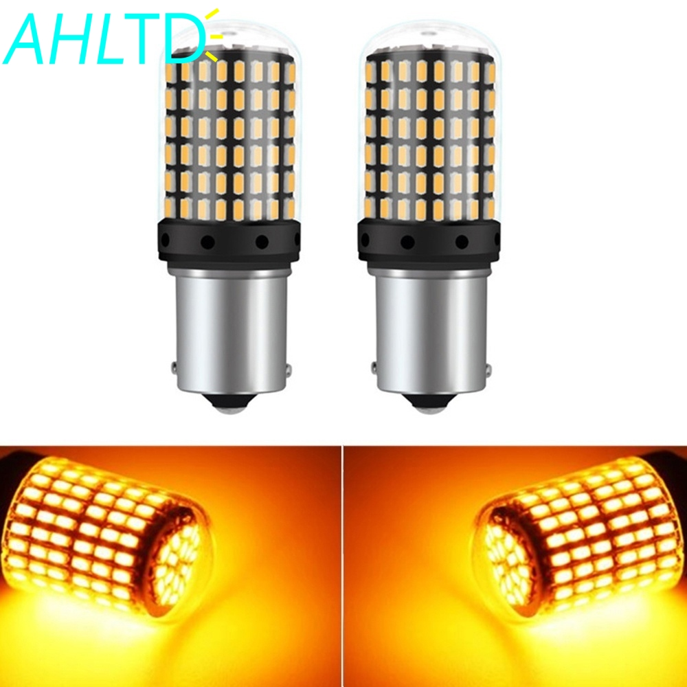 2X T20 W21W LED Bulbs 144smd Led CanBus No Error 1156 BA15S BAU15S 7440 P21W PY21W Lamp for Turn Signal Light Flash