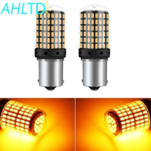 2X T20 W21W LED Bulbs 144smd Led CanBus No Error 1156 BA15S BAU15S 7440 P21W BAU15S PY21W Lamp for Turn Signal Light No Flash 2pcs turn signal light 1156 ba15s bau15s 7507 7440 led no hyper flash amber 144smd t20 w21w canbus led bulbs