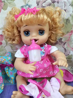 40cm Simulation fashion can speak , eat some food ,drink water , to the toilet baby doll model Action Figures Reborn Baby