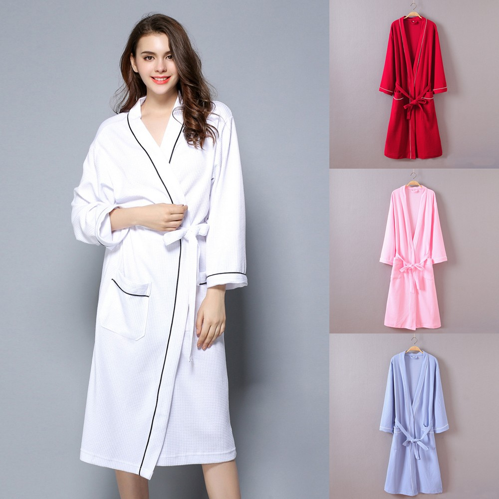 Women winter lengthened coralline plush shawl bathrobe long sleeve robe coat couple models ladies large size solid color bathrob